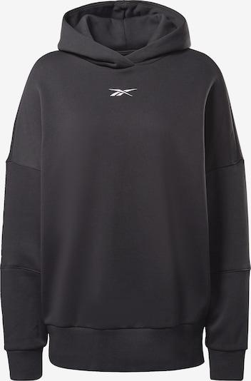 REEBOK Športna majica | črna / bela barva, Prikaz izdelka