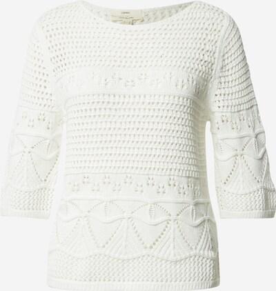 ESPRIT Pulover  'crochet' in offwhite: Frontalansicht