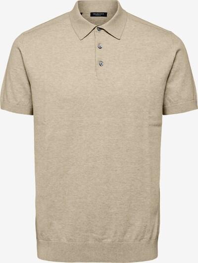 SELECTED HOMME Poloshirt 'Berg' in hellbeige / hellbraun / braunmeliert, Produktansicht