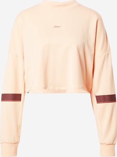 REEBOK Sweatshirt in pastellorange / burgunder, Produktansicht