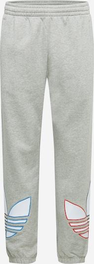 ADIDAS ORIGINALS Nohavice - nebesky modrá / sivá melírovaná / svetločervená / biela, Produkt