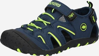 Dockers by Gerli Chaussures ouvertes en bleu marine / kiwi, Vue avec produit