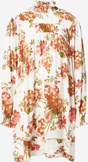 Line of Oslo Koktejl obleka | mešane barve / bela barva, Prikaz izdelka