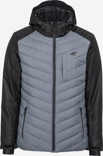 4F Veste outdoor en gris chiné / noir, Vue avec produit