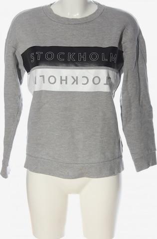 Topshop Sweatshirt & Zip-Up Hoodie in S in Grey