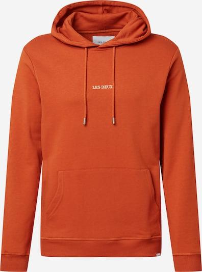 Les Deux Sweatshirt 'Lens' in orange / weiß, Produktansicht