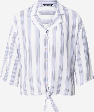 DeFacto Bluse in taubenblau / weiß, Produktansicht