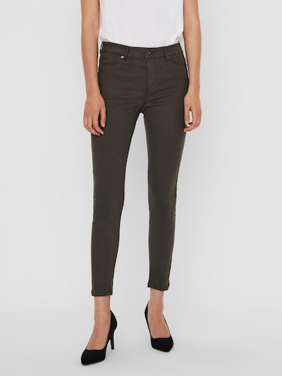 VERO MODA Jeans 'Hot Seven' in de kleur Kaki, Modelweergave