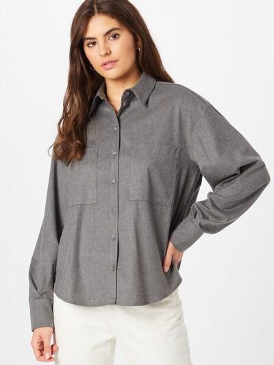IVY & OAK Bluse in graumeliert, Modelansicht