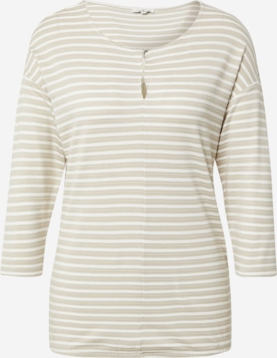 Marškinėliai iš TOM TAILOR, spalva – kremo / nebalintos drobės spalva / gelsvai pilka spalva, Prekių apžvalga