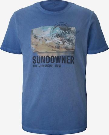 TOM TAILOR Shirt in Blau