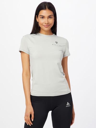 MOROTAI Sportshirt 'Naka' in hellgrau / schwarz: Frontalansicht