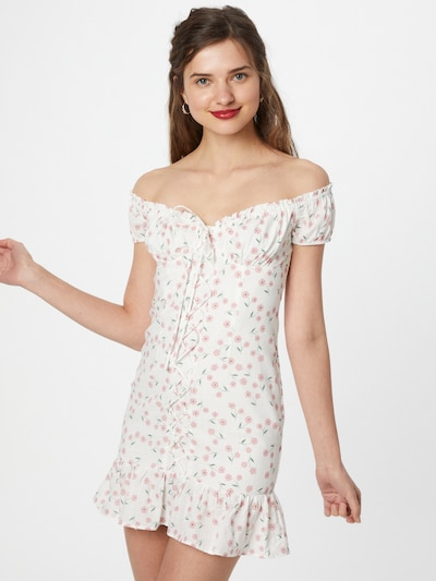 Love Triangle Šaty 'Sophia' - zelená / ružová / biela, Model/-ka