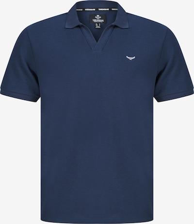 Threadbare T-shirt 'Waffle' en bleu foncé / blanc, Vue avec produit