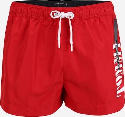TOMMY HILFIGER Shorts de bain en rouge sang / blanc, Vue avec produit