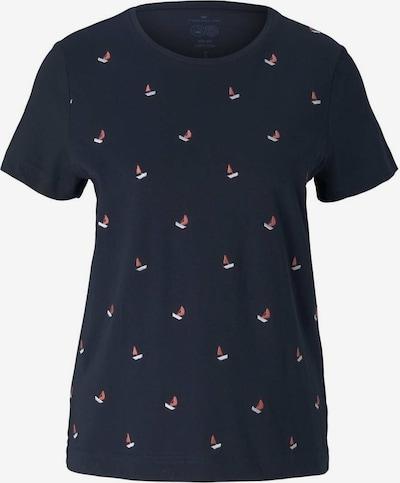 TOM TAILOR T-shirt en bleu marine / rouge clair / blanc, Vue avec produit