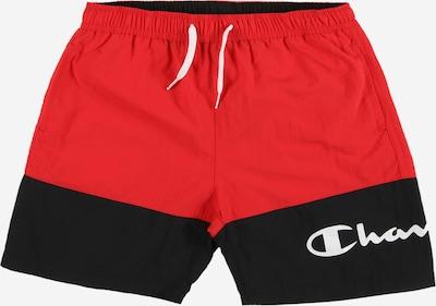 Champion Authentic Athletic Apparel Badeshorts in feuerrot / schwarz / weiß, Produktansicht