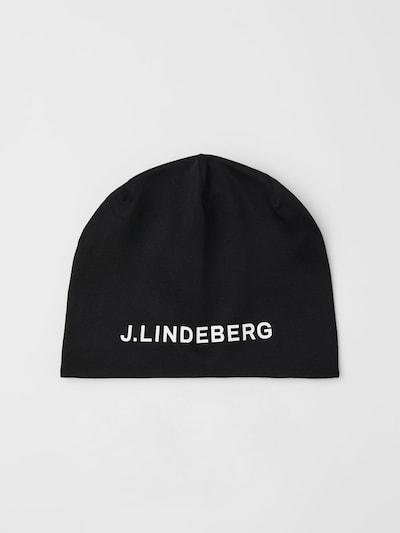 J.Lindeberg Mütze in schwarz / weiß: Frontalansicht