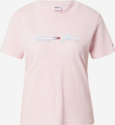 Tricou Tommy Jeans pe albastru fumuriu / verde mentă / roz / roșu / alb, Vizualizare produs
