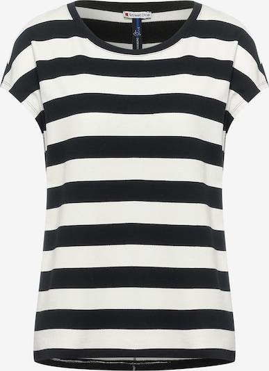 STREET ONE T-Shirt in schwarz / weiß, Produktansicht