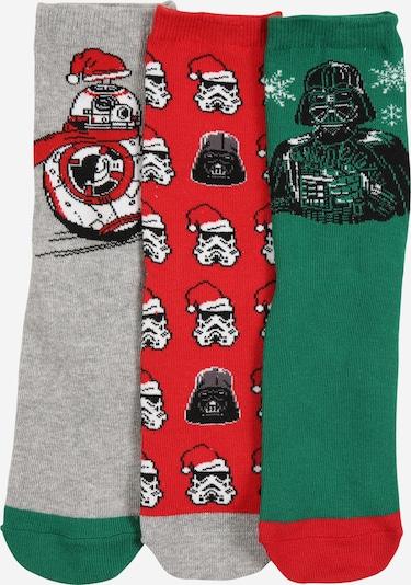 GAP Socken in grau / grün / rot / schwarz / weiß, Produktansicht