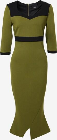 Madam-T Cocktailjurk 'Britney' in de kleur Kaki / Zwart, Productweergave