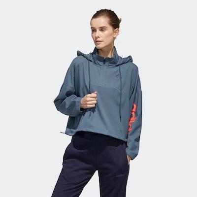 ADIDAS PERFORMANCE Veste de sport en bleu-gris / saumon, Vue avec modèle