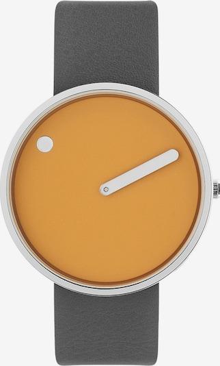 Picto Uhr in dunkelgelb / anthrazit / silber, Produktansicht