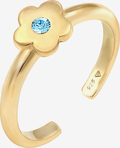 ELLI Sieraden 'Blume' in de kleur Turquoise / Goud, Productweergave