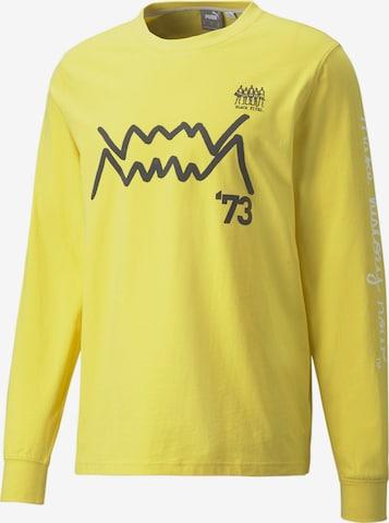 PUMA Langarmshirt in Gelb