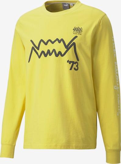 PUMA Langarmshirt in gelb / schwarz / weiß, Produktansicht
