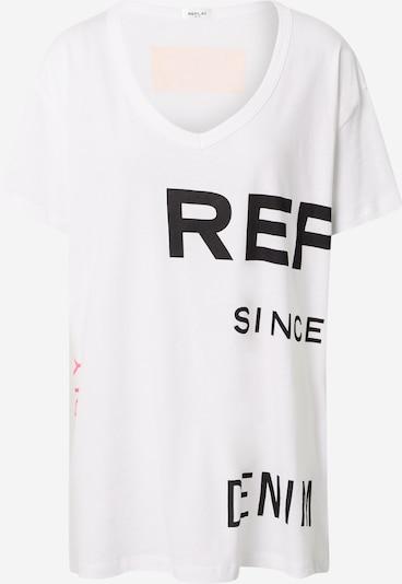 REPLAY T-Shirt in pink / schwarz / weiß, Produktansicht