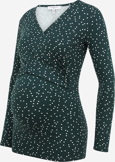 Marškinėliai 'FIONA' iš Envie de Fraise, spalva – tamsiai žalia / balta, Prekių apžvalga