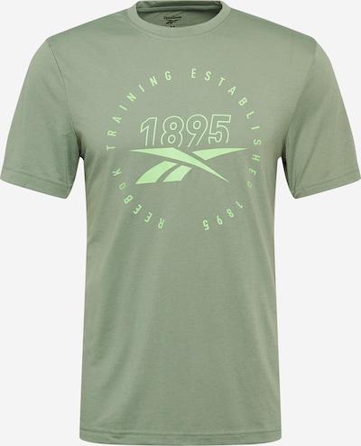 REEBOK Funkčné tričko - pastelovo žltá / pastelovo zelená, Produkt