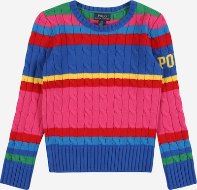 POLO RALPH LAUREN Pulover u plava / žuta / zelena / roza, Pregled proizvoda