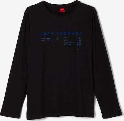 s.Oliver Shirt in blau / schwarz, Produktansicht