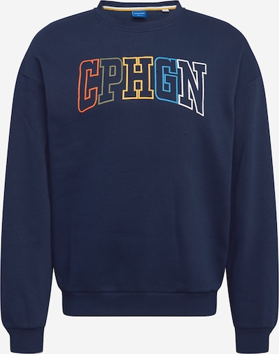 JACK & JONES Sweatshirt in dunkelblau / mischfarben, Produktansicht