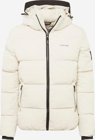 Calvin Klein Winter Jacket in Beige