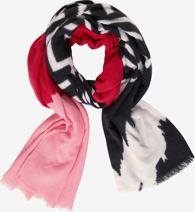 STREET ONE Schal in dunkelrot / schwarz / weiß, Produktansicht