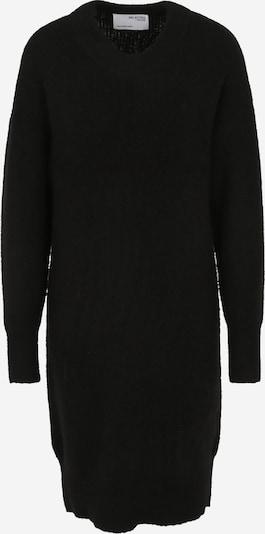 Rochie tricotat 'SLFSIF KHLOE LS KNIT DRESS O-NECK B TALL' Selected Femme Tall pe negru, Vizualizare produs