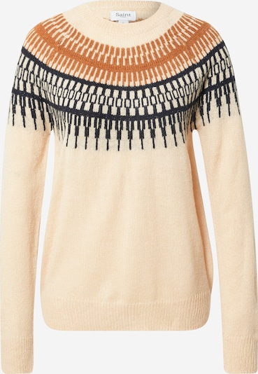 SAINT TROPEZ Pullover 'Irosa' in creme / chamois / nachtblau, Produktansicht