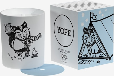 Yope Kerze 'Winter Forest' in weiß, Produktansicht