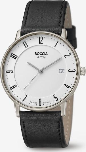 Boccia Titanium Uhr in schwarz / silber / weiß, Produktansicht