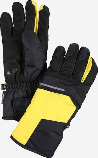 4F Sporta cimdi dzeltens / antracīta, Preces skats