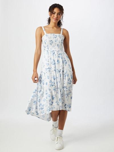 HOLLISTER Kleid in blau / weiß, Modelansicht