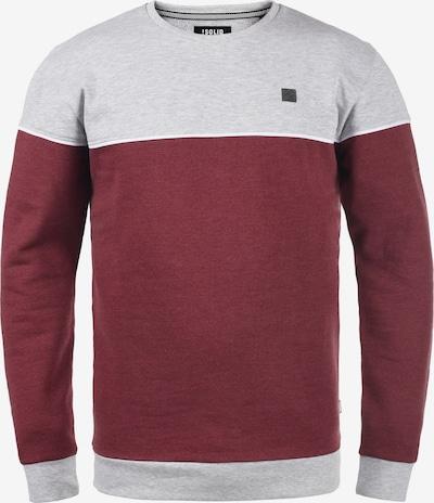 !Solid Sweatshirt 'Dewar' in grau / bordeaux / weinrot, Produktansicht