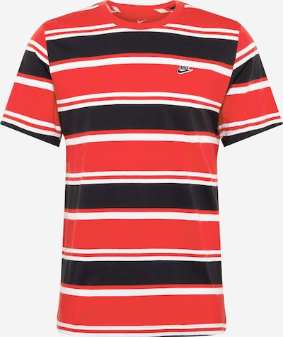 Nike Sportswear T-Shirt en rouge / noir / blanc, Vue avec produit