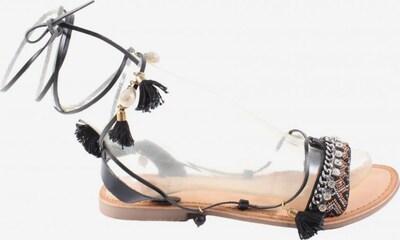 Gioseppo Riemchen-Sandalen in 40 in gold / schwarz / silber, Produktansicht
