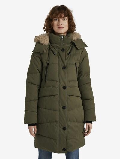TOM TAILOR Manteau d'hiver en vert foncé, Vue avec modèle