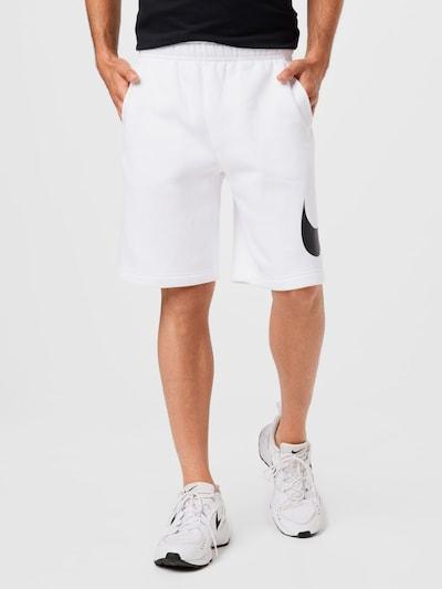 Pantaloni Nike Sportswear pe negru / alb, Vizualizare model